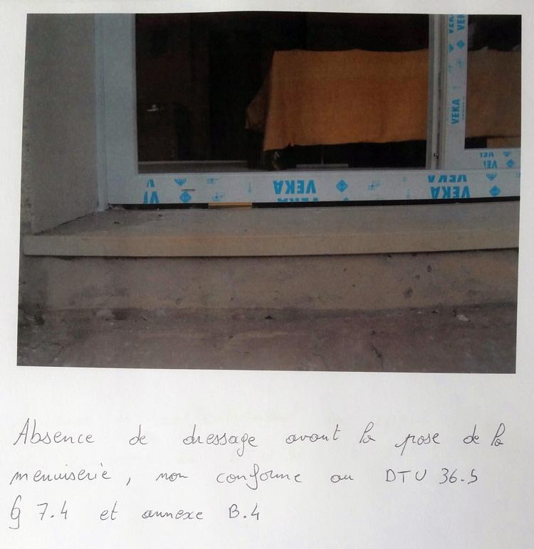 lettre pose non conforme au dtu 01
