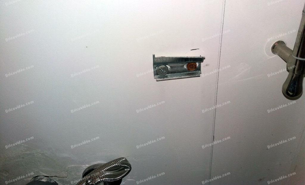 awesome fixation meuble salle de bain #1: fixer un meuble salle de